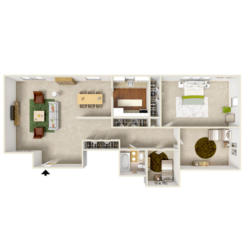 poplar gardens three bedroom floor plan